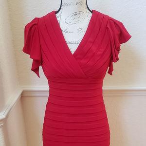 Adrianna Papell 2P Striking Red Dress